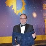 Mantovani ritira l'Oscar del Vino