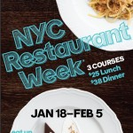 NYC Restaurant Week. The best in New York