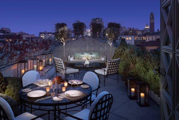 Four Seasons Hotel Milano Terrazza Penthouse Suite Bluarte