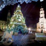 Luci del Natale a Vilnius e Kaunas. Lituania.