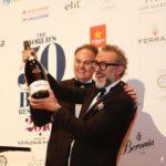 Bottura brinda con Ferrari il podio World's 50 Best Restaurants