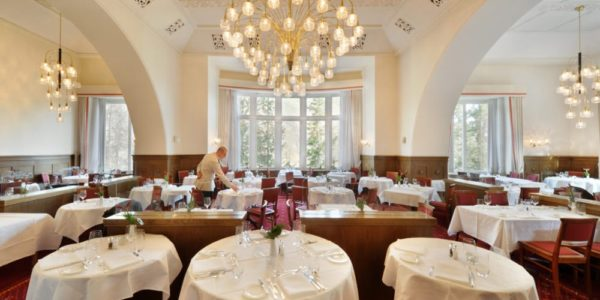 Waldhaus dining rooms, the flavors of Engadina, art and hospitality